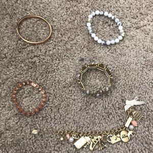 Lot of 5 bracelets.